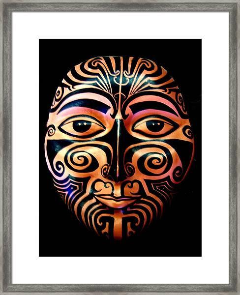 Maori Mask Framed Print
