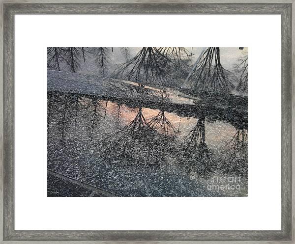 Marble Sunset Framed Print