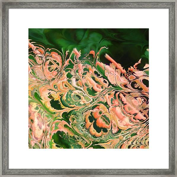 Marbled Framed Print