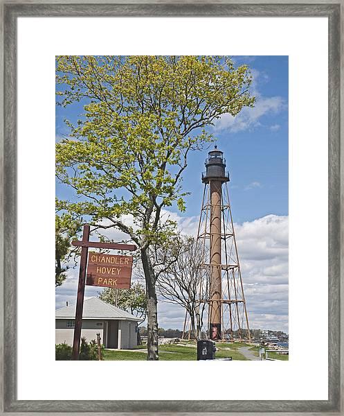 Marblehead Light House Framed Print