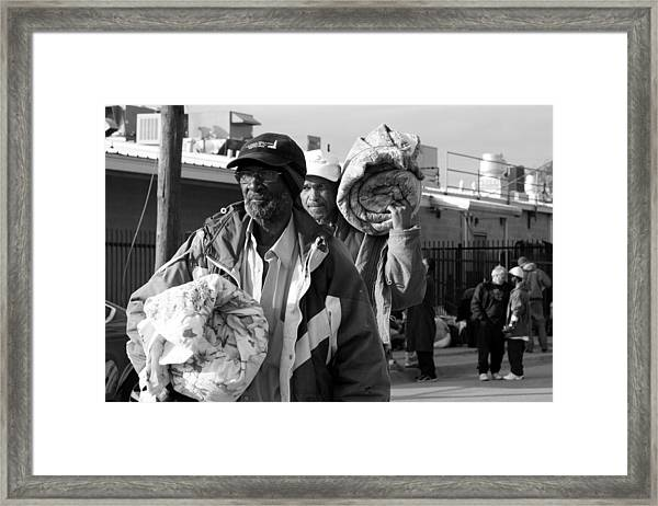 March Of The Desolate Framed Print