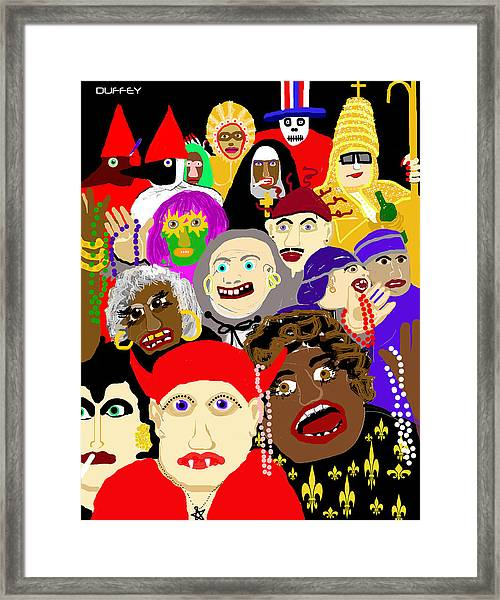 Mardi Gras New Orleans Framed Print