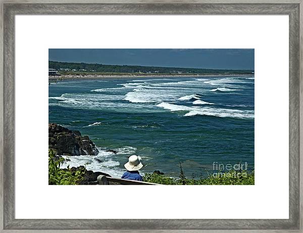 Marginal Hat Framed Print