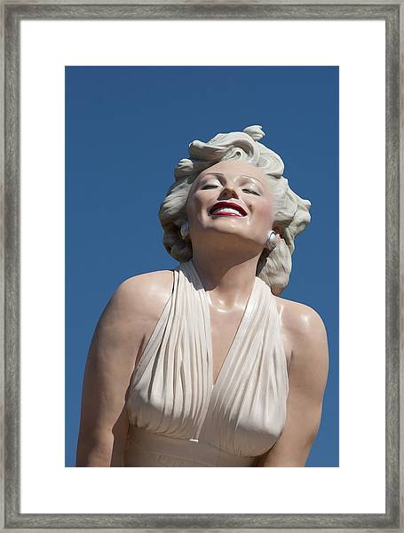 Marilyn In The Sun Framed Print