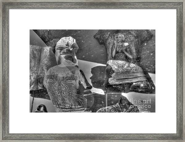 Marilyn's Shadow At Night Framed Print