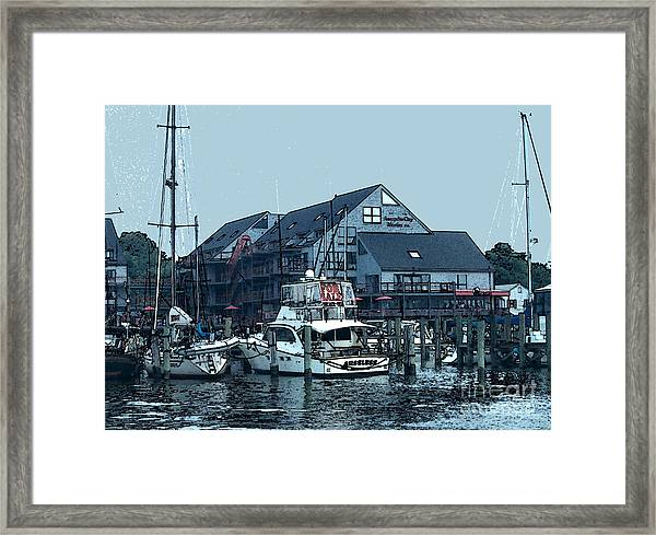 Marina On Chesapeake Bay Framed Print