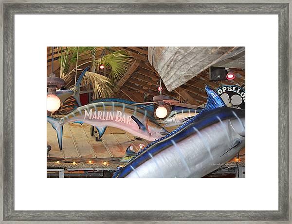 Marlin Bar Framed Print