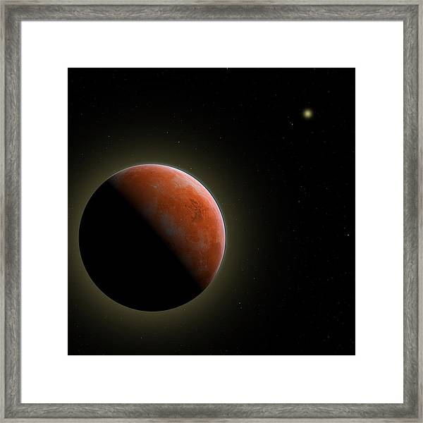 Mars - The Red Planet Framed Print