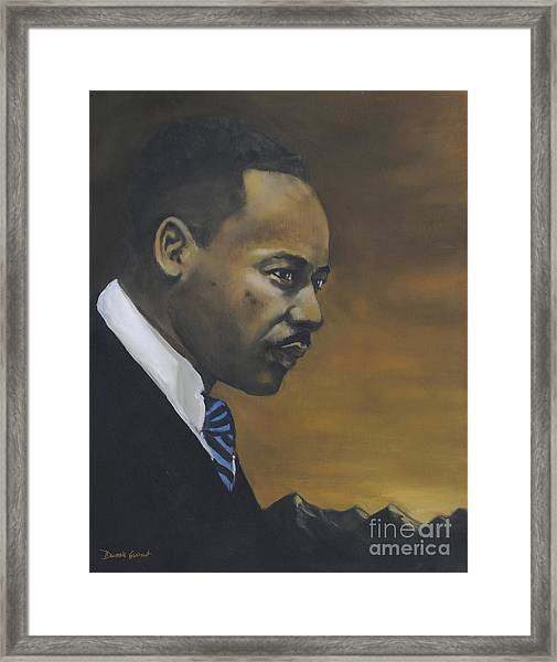 Martin Luther King Jr - From The Mountaintop Framed Print