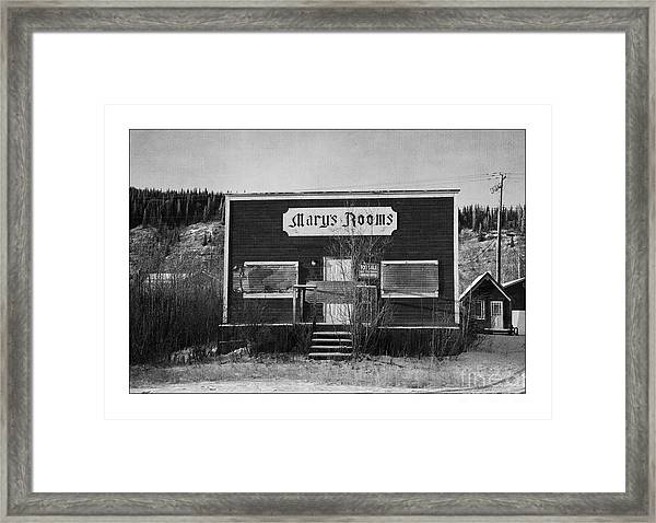 Mary's Rooms Framed Print