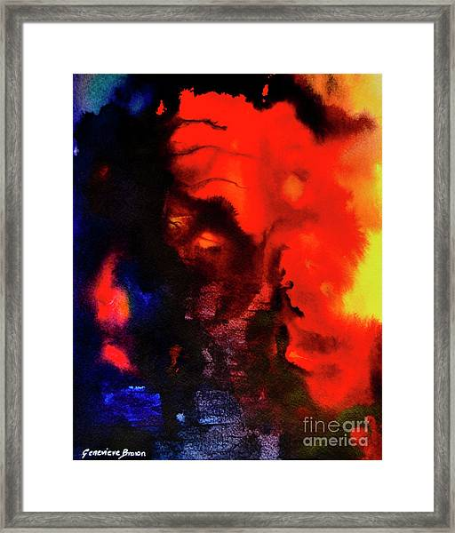 Framed Print featuring the painting Masked Illusion by Genevieve Brown