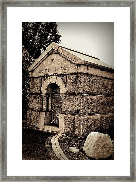 Mausoleum Of Memories Framed Print