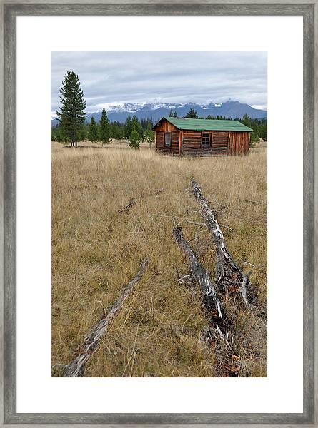 Mccarthy Family Cabin Glacier National Park Framed Print