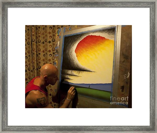 Me Adding The Finishing Touches Framed Print