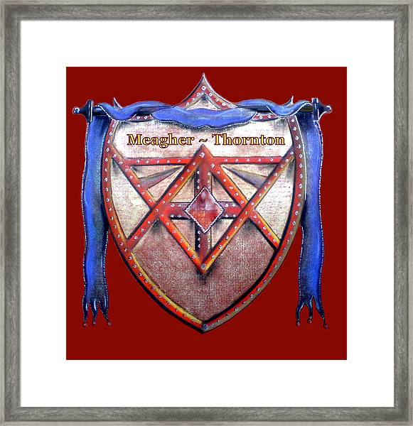 Meagher-thornton Family Crest Framed Print