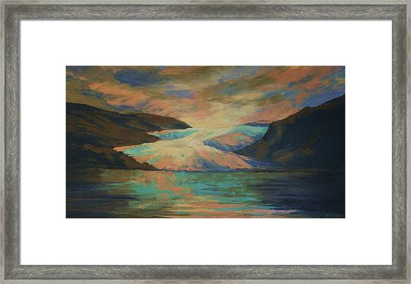 Mendenhall Glacier Framed Print