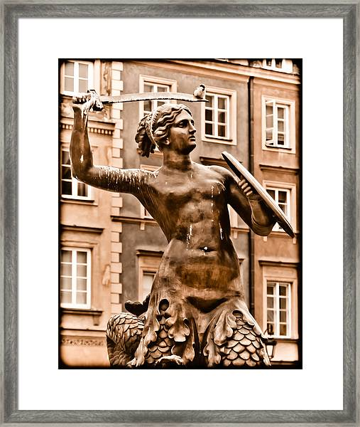 Warsaw, Poland - Mermaid Framed Print