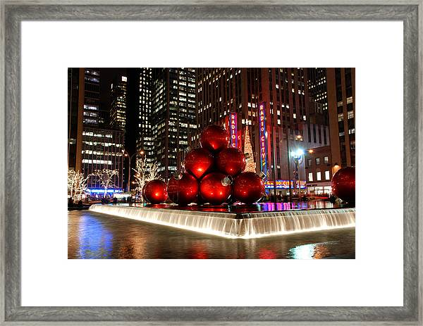 Merry New York City Christmas Framed Print