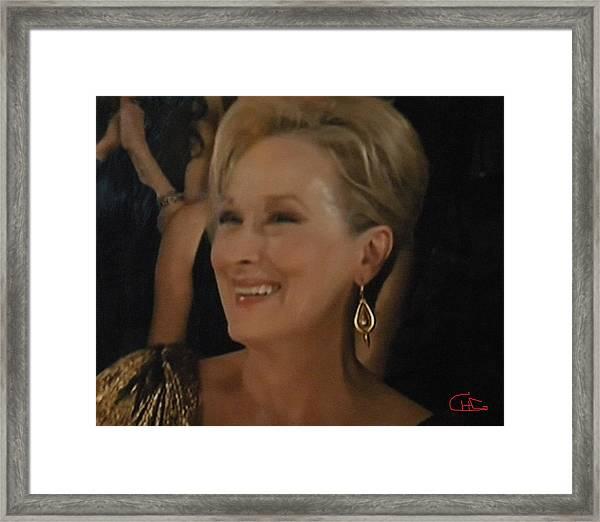 Meryl Streep Portrait  Framed Print