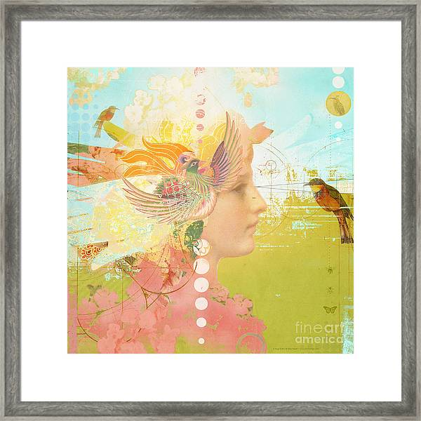 Message From The Muse Framed Print