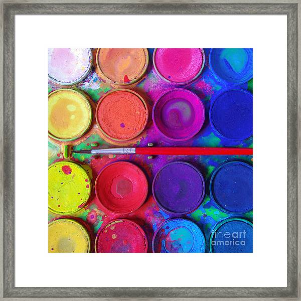 Messy Paints Framed Print