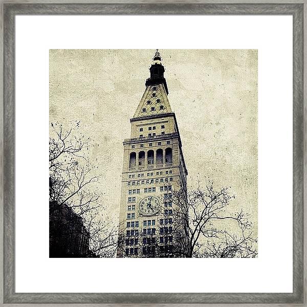 Met Life Tower Framed Print