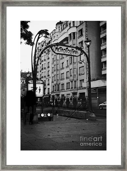 Metropolitain Framed Print