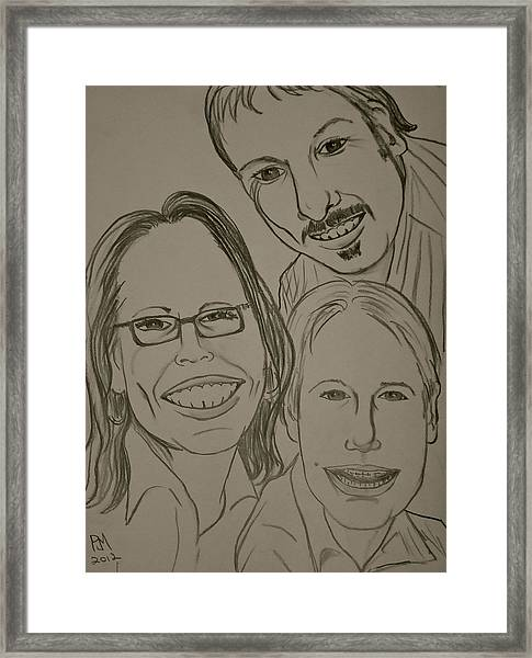 Mi Familia Framed Print by Pete Maier