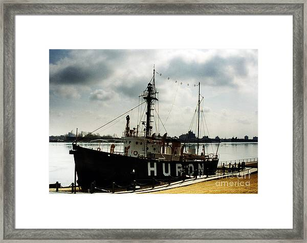 Michigan Lake Huron - The Huron Lightship  Framed Print