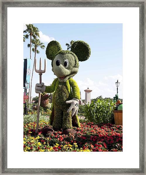 Mickeytopiary3606 12 Framed Print by Charles  Ridgway