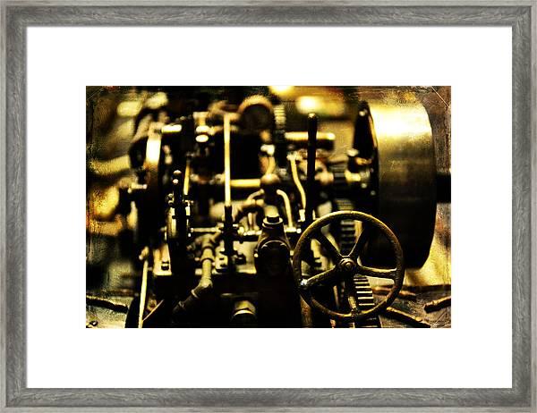 Micro Gears Framed Print