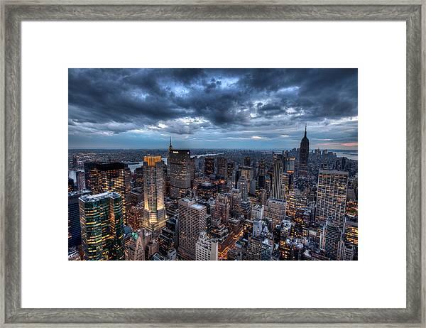 Midtown Lights Framed Print