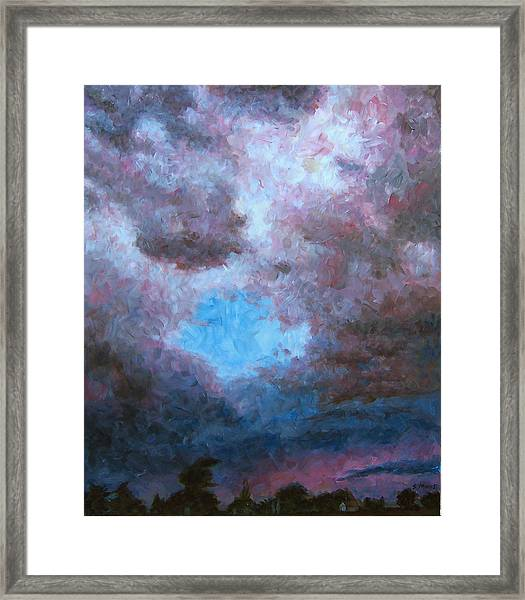 Midwest Tempest Framed Print by Susan Moore