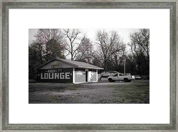 Mike's Lounge Framed Print