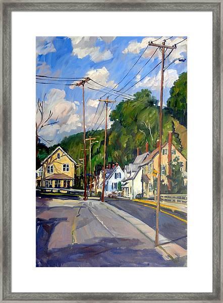 Mill Houses North Adams Framed Print