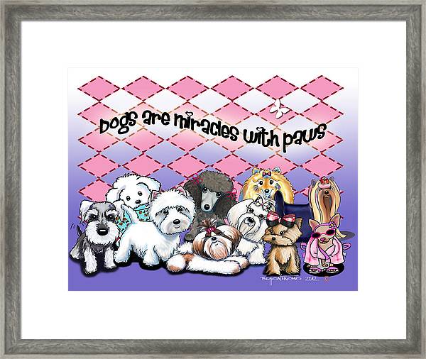 Miracles With Paws Framed Print