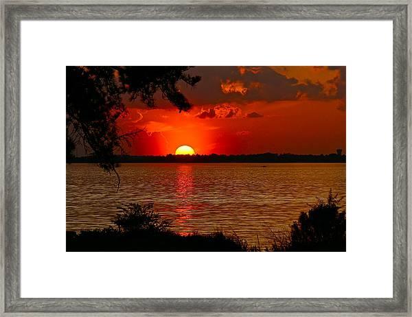 Mississippi Sunset 3 Framed Print