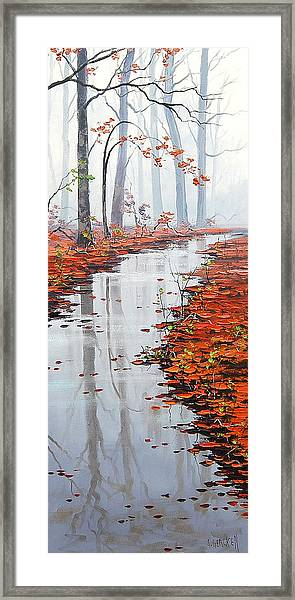 Misty Tream Framed Print