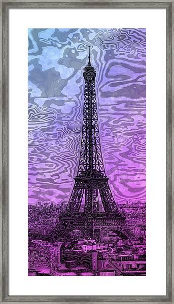 Modern-art Eiffel Tower 14 Framed Print