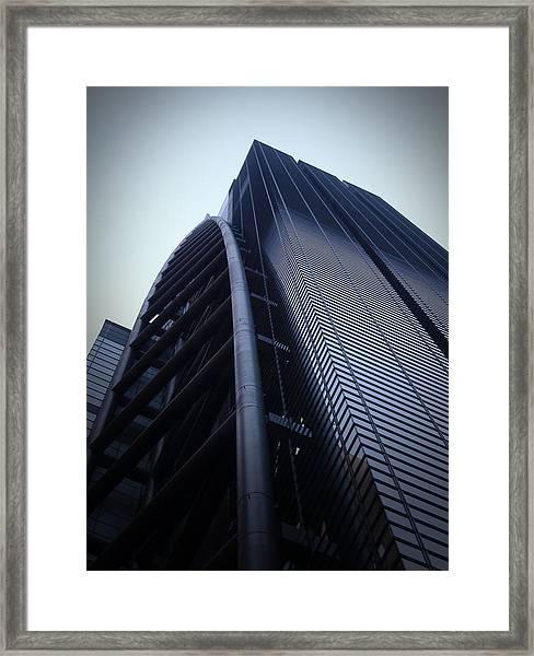 Modern Building In Tokyo Framed Print by Naxart Studio
