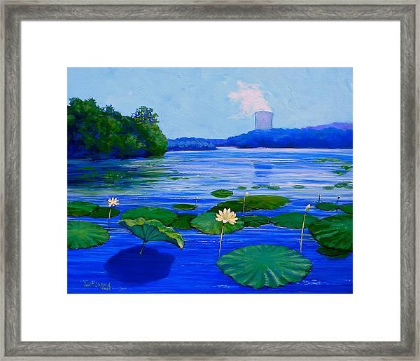 Modern Mississippi Landscape Framed Print