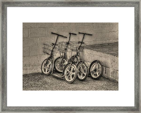 Modern Old Ways In Black And White Framed Print
