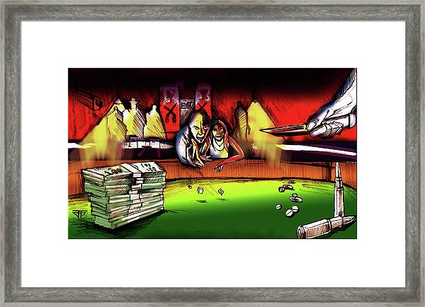 Money Stacks Framed Print