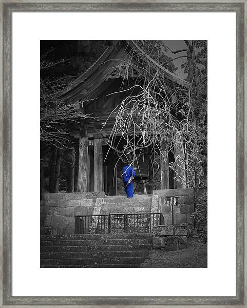 Monk And Bell Framed Print