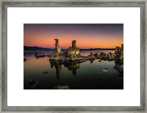 Mono Lake Tufa At Sunrise Framed Print