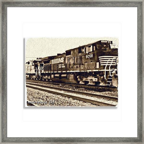 Monochrome Rail Framed Print