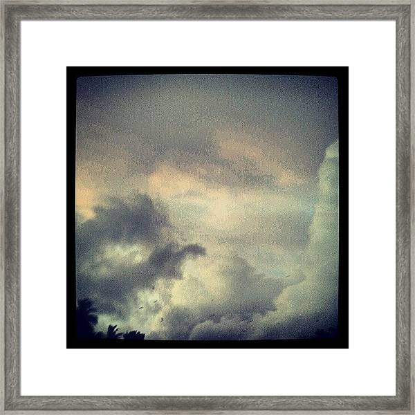 Monsoon Clouds Framed Print