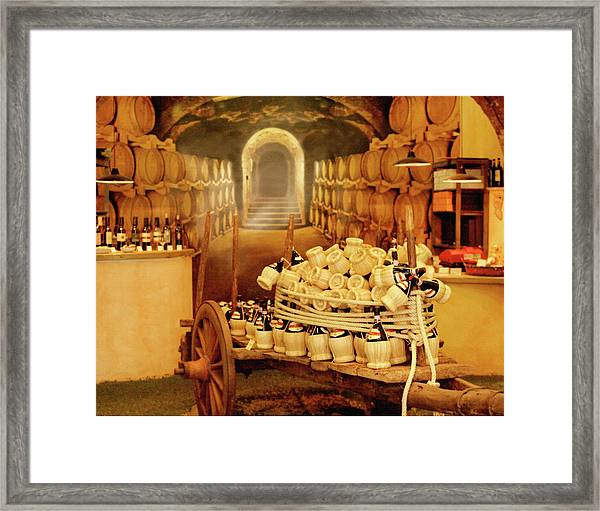 Montalcino Wine Shop Framed Print