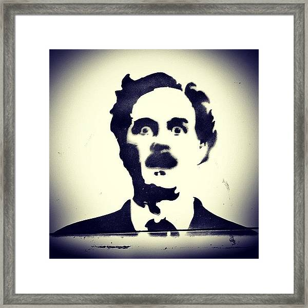 #montypython #johncleese #comedy Framed Print
