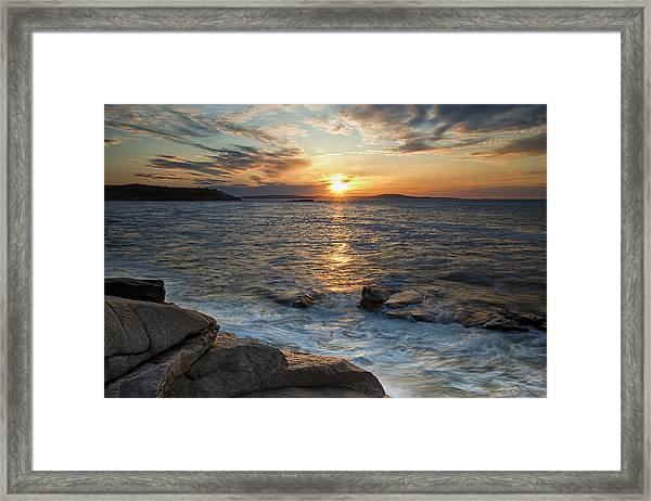 Monument Cove Sunrise Framed Print
